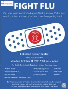 Oneida County Health Department Flu Shot Clinic
